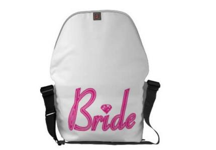 Bride with Bling Messenger Bag