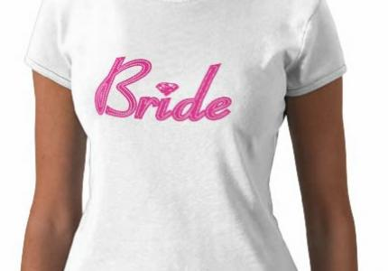 Pink Bride with Bling T-Shirt
